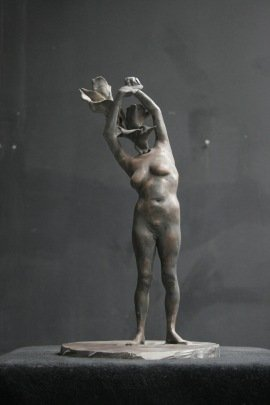 The Catcher, bronze, 41 cm height, 2006