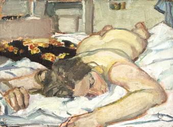 Hanna (Portrait of a Lady, oil on plaster, 50×40 cm, 2009