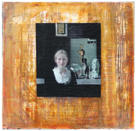 Hanna (Huckleberry Finn, oil on plaster, 100x100cm, 2009