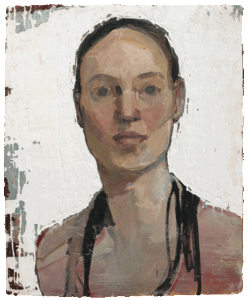 with whiteness, oil on plaster, 33×44 cm, 2014