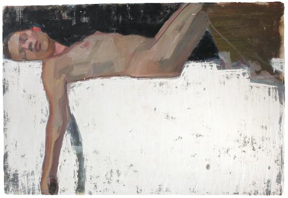 Harriet (two), oil on plaster, 120×95 cm, 2013