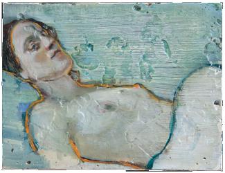 Leaving, oil on plaster, 25x31cm, 2007