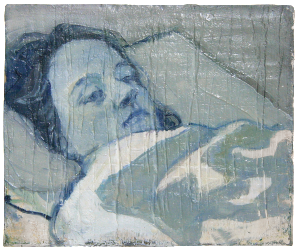 silence, oil on plaster, 25×31 cm, 2008