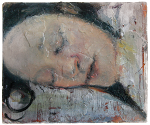 For my father, oil on plaster, 35x36x14 cm, 2008