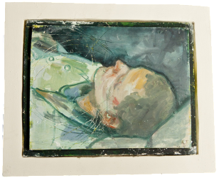 Sylvain, oil on plaster, 25×31 cm, 2008