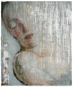 With Adam, oil on plaster, 28×35 cm, 2008