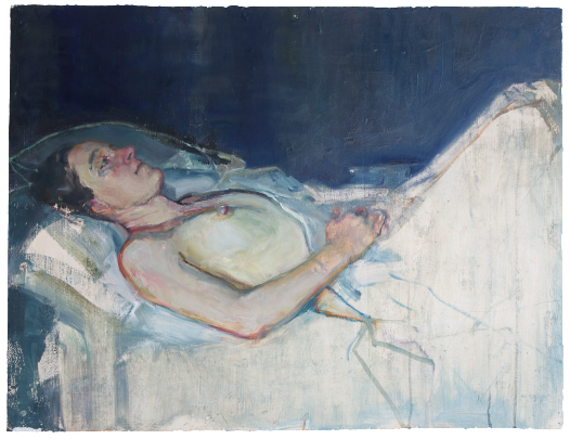 Jasmine in the Braemare house, oil on plaster, 79×63 cm, 2008
