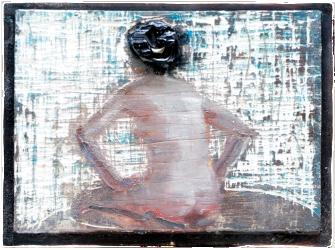 god hurried, oil on plaster, 25×31 cm, 2006