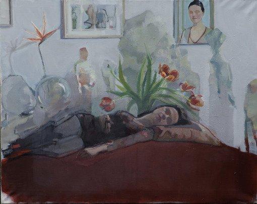 into the ripe air (Elisabeth), oil on canvas, 120×94 cm, 2014