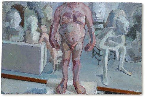 stand still, oil on plaster, 76x 51 cm, 2015
