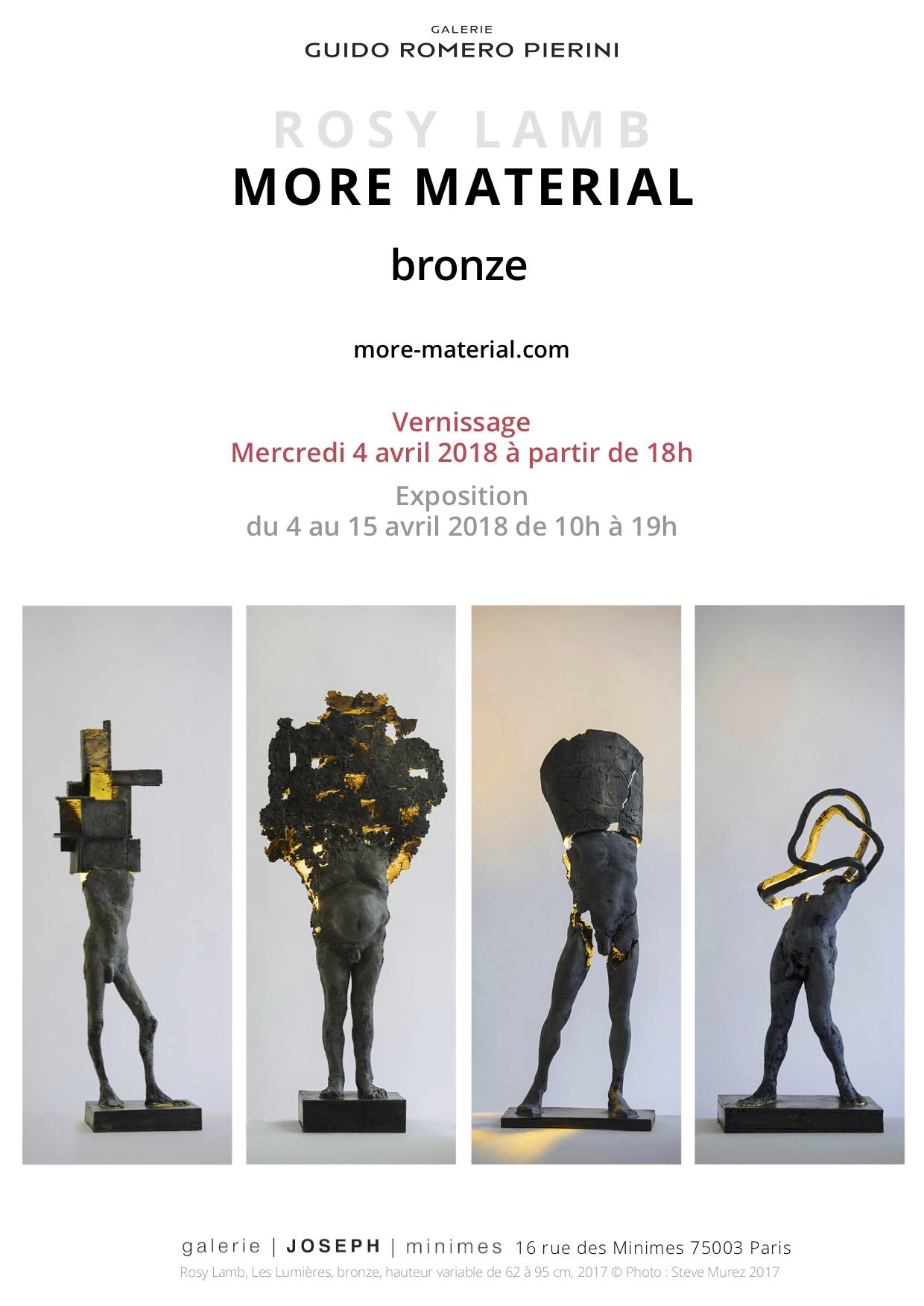 More Material, Exhibition, April 4-15 2018, Paris